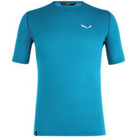 SALEWA Pedroc Hybrid 3 Dry Camiseta Manga Corta Hombre, blue danube melange